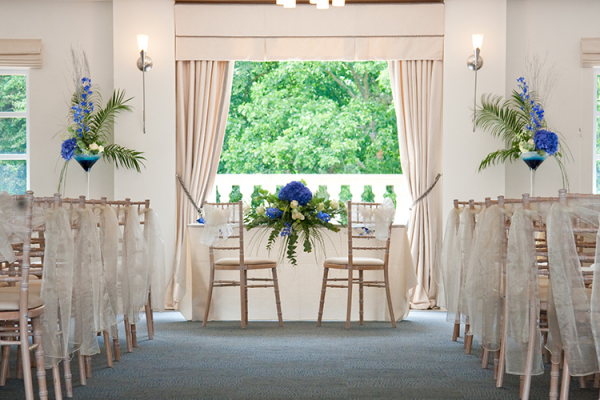 The Italian Villa in Dorset set up for a wedding ceremony