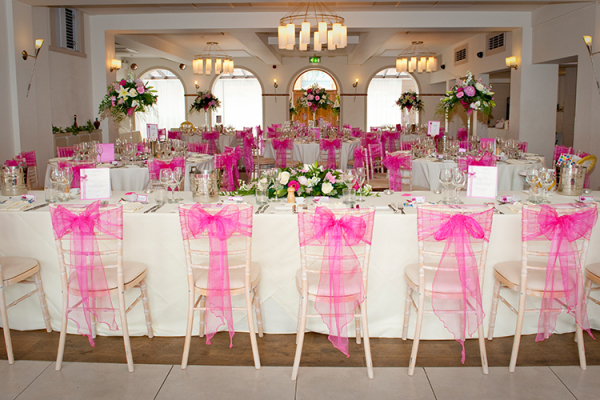 The Italian Villa in Dorset set up for a wedding reception