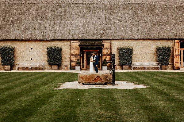 The lawn at The Tythe Barn wedding venue in Oxfordshire | CHWV