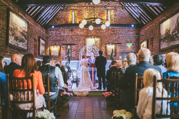 A wedding ceremony at Thursford Garden Pavilion in Norfolk | CHWV