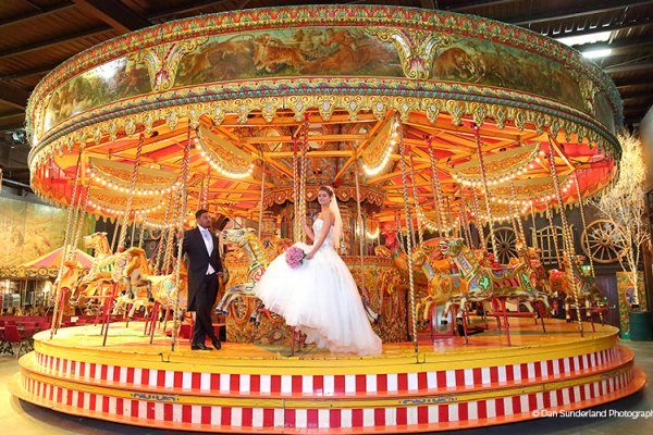 A fairground ride at Thursford Garden Pavilion wedding venue in Norfolk | CHWV