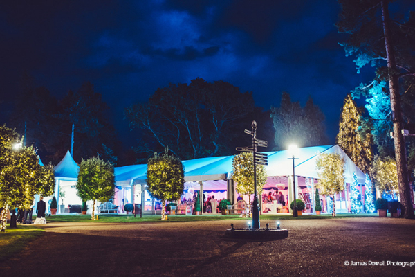 Thursford Garden Pavilion wedding venue in Norfolk at night | CHWV