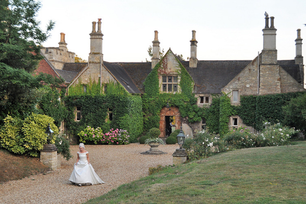 Bride in Grounds at Tofte Manor | Wedding Venues Bedfordshire