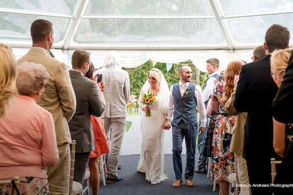 Just married at Tournerbury Woods Estate in Hampshire
