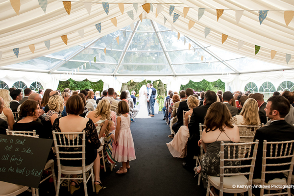 A wedding ceremony at Tournerbury Woods Estate