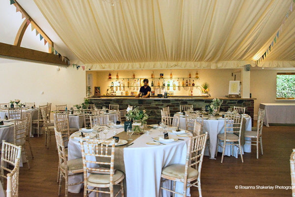 Set up for a wedding reception at Tredudwell Manor wedding venue in Cornwall | CHWV