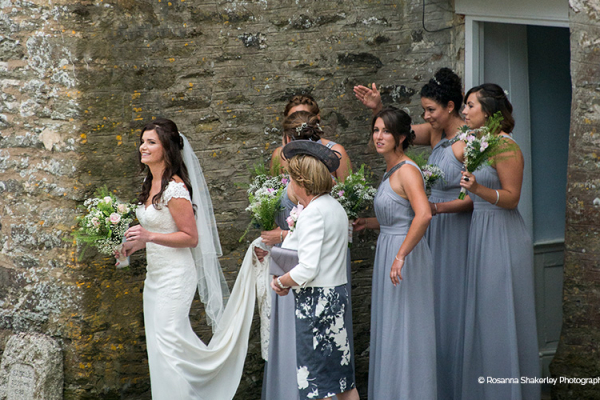 Ready for her wedding ceremony at Tredudwell Manor wedding venue in Cornwall | CHWV