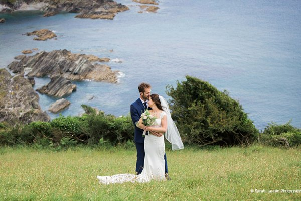 The view from Tredudwell Manor wedding venue in Cornwall