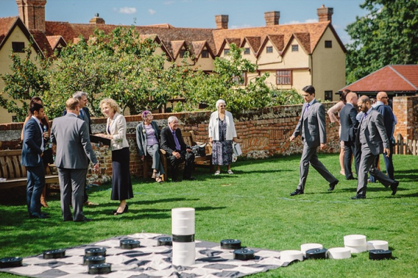 Garden games at Ufton Court barn wedding venue in Berkshire | CHWV
