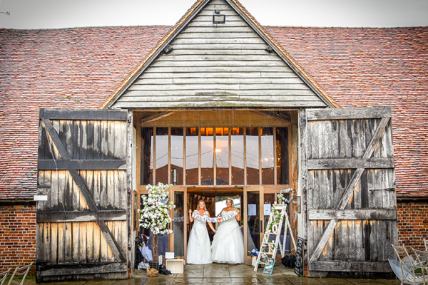 Just married at Ufton Court barn wedding venue in Berkshire | CHWV