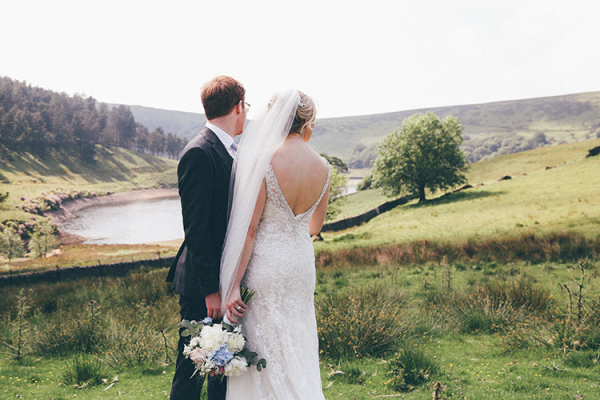 A couple take a moment at Upper House Castle Wedding Venue in Derbyshire | CHWV