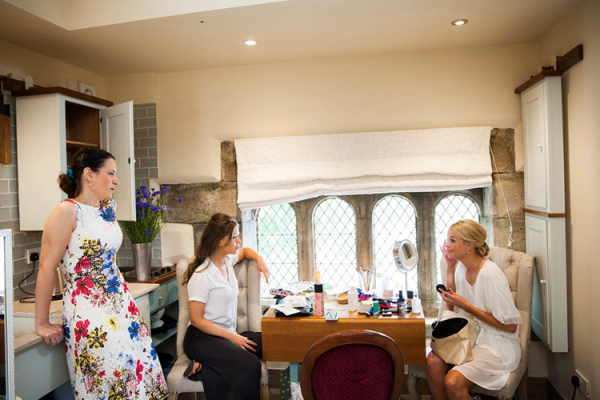 A bride getting ready at Upper House Castle Wedding Venue in Derbyshire | CHWV