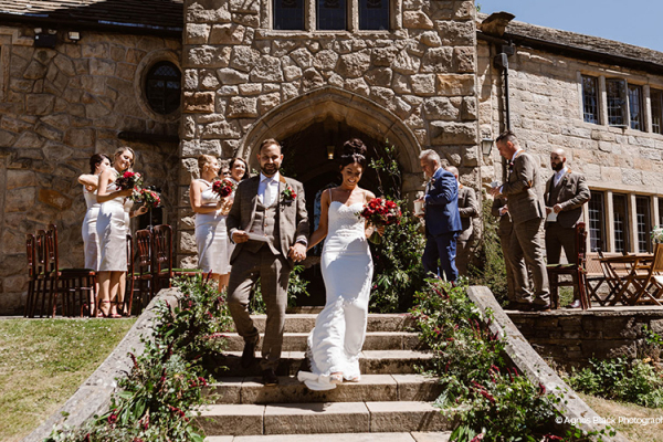 Just married at Upper House Castle Wedding Venue in Derbyshire | CHWV