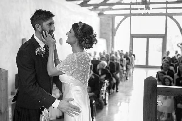 A civil ceremony at Upton Barn - Barn weddings in Devon