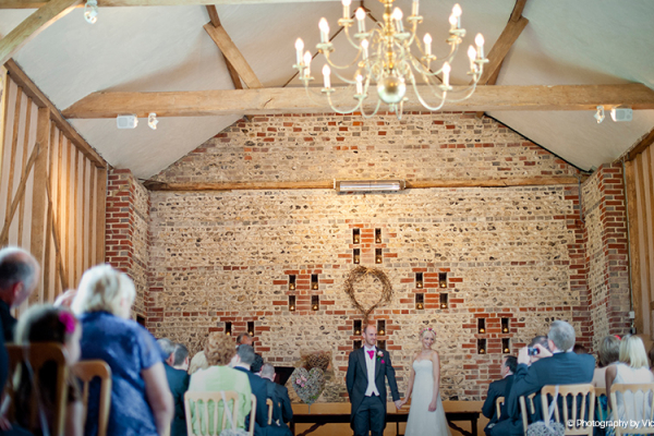 Civil wedding ceremony barn - Upwaltham Barns in West Sussex