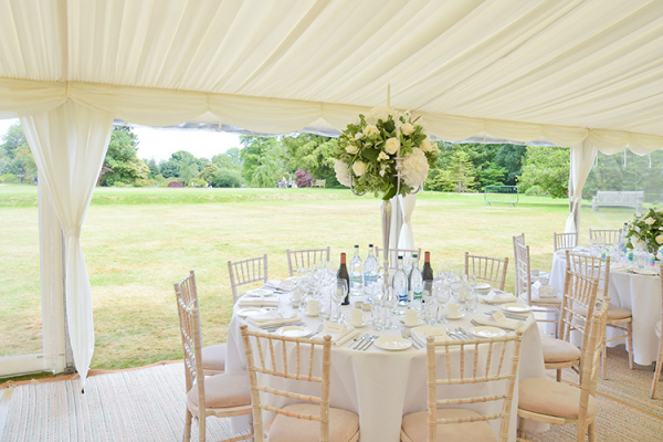 Set Up For A Wedding Reception At Wakehurst Venue In West Sussex