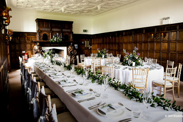 Set up for a wedding breakfast at Wakehurst wedding venue in West Sussex | CHWV