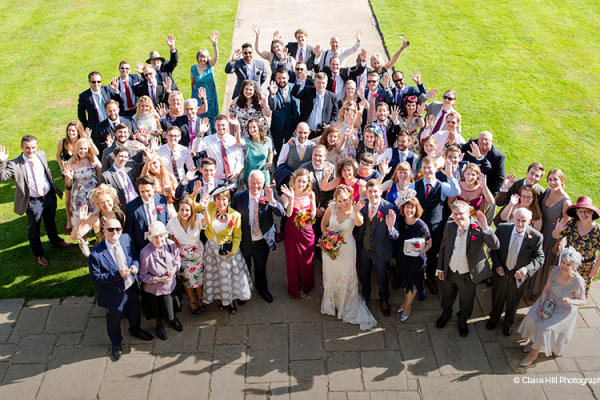 An aerial group shot at Wakehurst wedding venue in West Sussex | CHWV