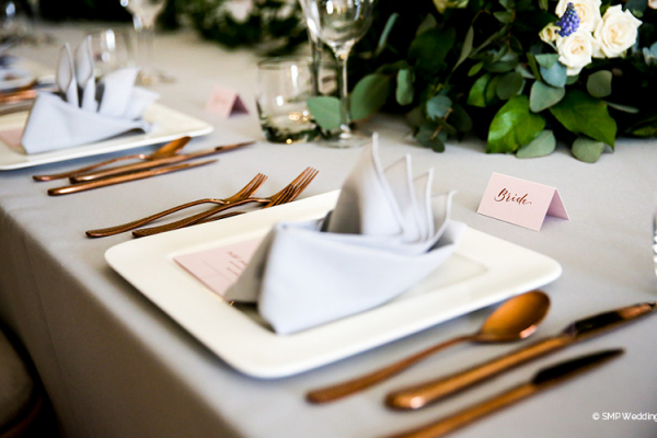 Elegant table setting at Wakehurst wedding venue in West Sussex | CHWV