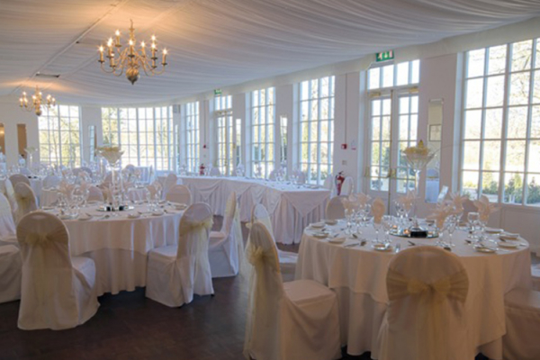 A wedding reception at Warwick House - Marquee wedding venue in Warwickshire