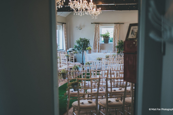The ceremony room at Widbrook Grange country house wedding venue in Wiltshire | CHWV