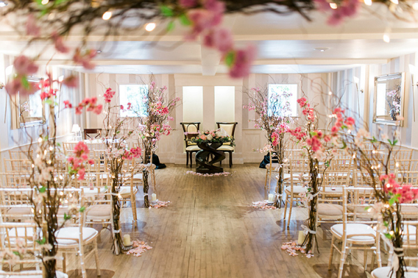Woodhall Manor in Suffolk set up for a wedding ceremony | CHWV