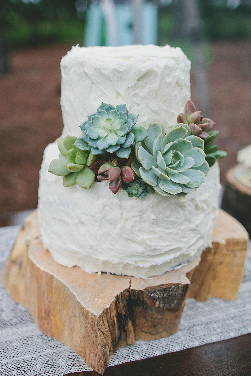 10 Ways To Use Succulents At Your Wedding - Wedding cake | CHWV