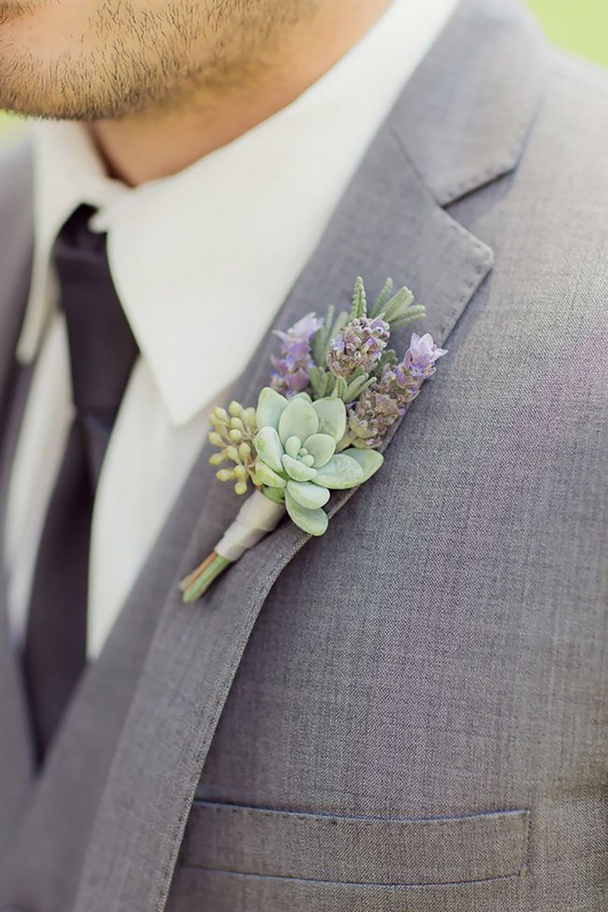 10 Ways To Use Succulents At Your Wedding - Buttonholes | CHWV