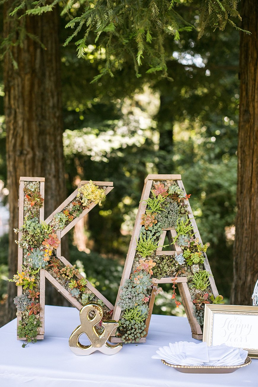 10 Ways To Use Succulents At Your Wedding - Big letters | CHWV