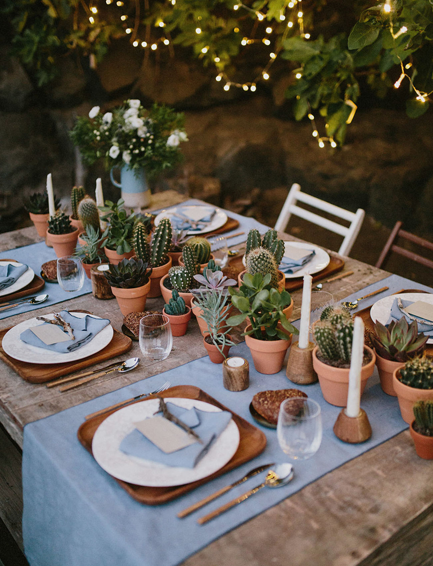 10 Ways To Use Succulents At Your Wedding - Table decorations | CHWV