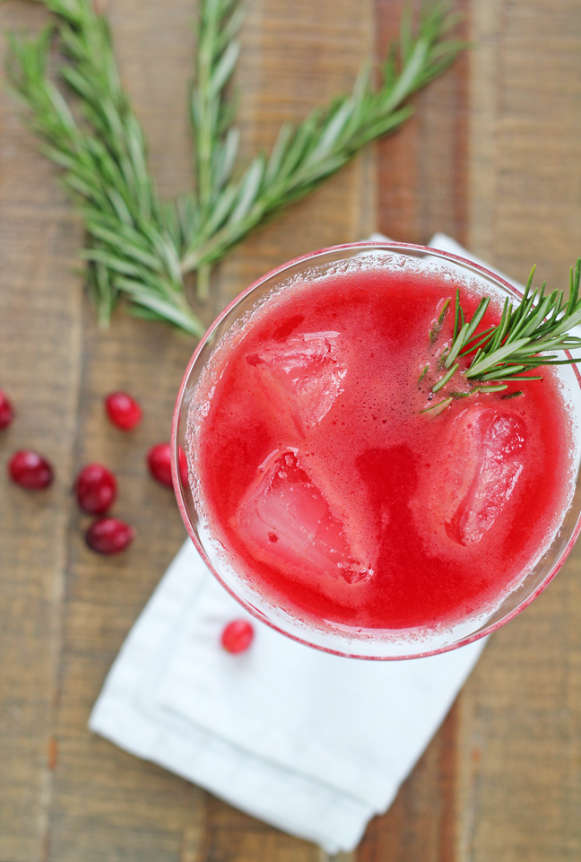 Drink Me – Summer Wedding Cocktails - Cranberry Rosemary Refresher   CHWV