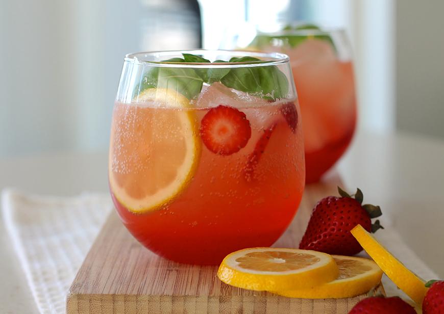 Drink Me – Summer Wedding Cocktails - Strawberry Basil Bourbon   CHWV