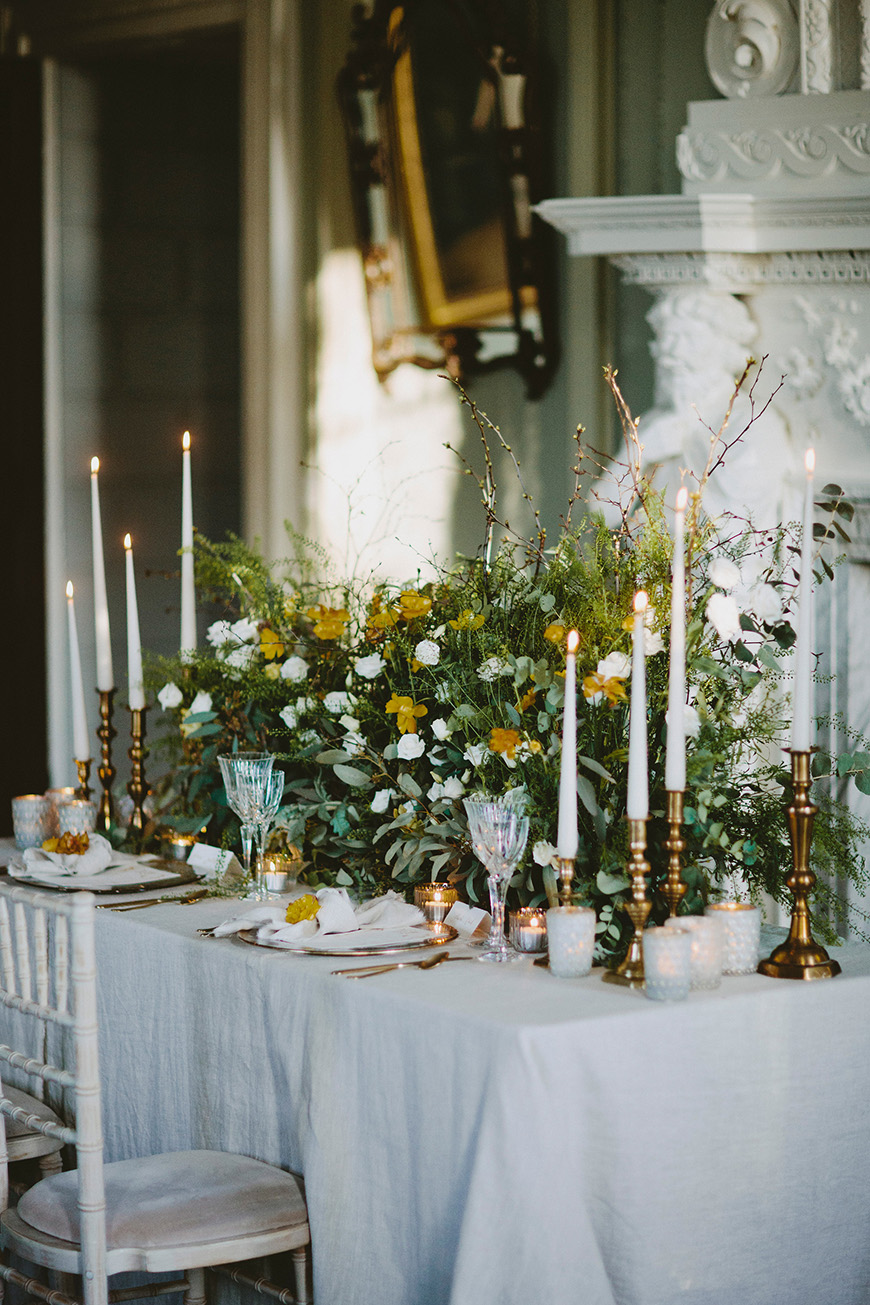 A Stunning Styled Shoot At Davenport House - Reception table | CHWV