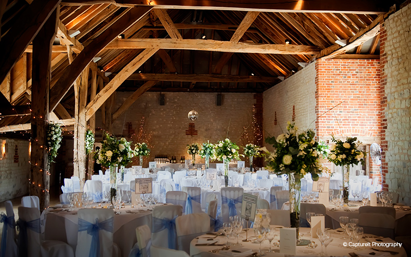 Barn wedding venues surrey the barn at bury court chwv junglespirit Gallery