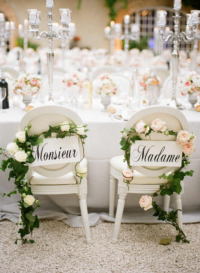 5 fantastic ideas for a French themed wedding - The decorations | CHWV