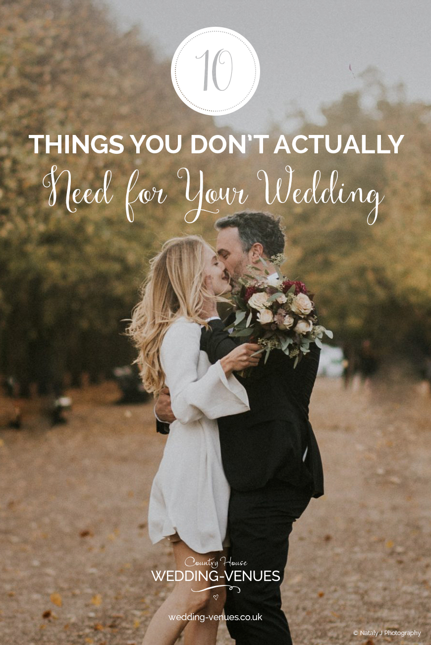 10 Things You Don't Actually Need For Your Wedding - | CHWV