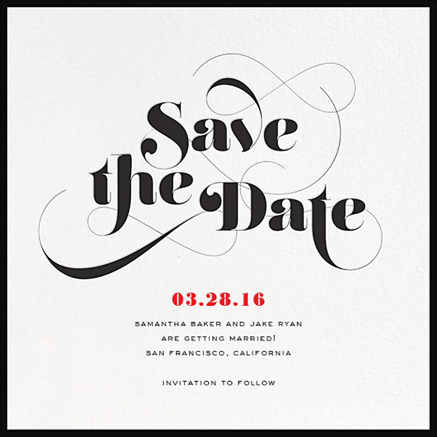 10 Things You Don't Actually Need For Your Wedding - Save the dates | CHWV