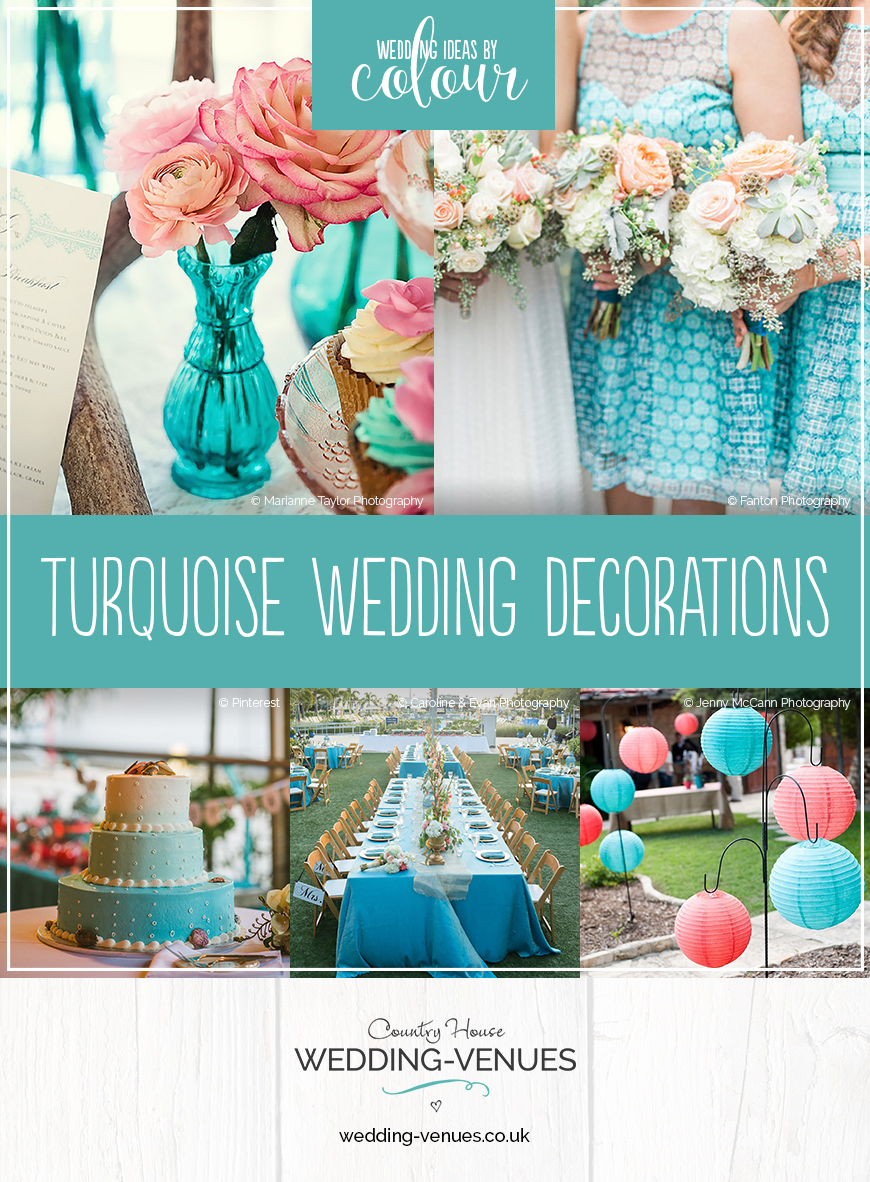 wedding ideas turquoise turquoise wedding decorations wedding ideas by colour chwv 27827