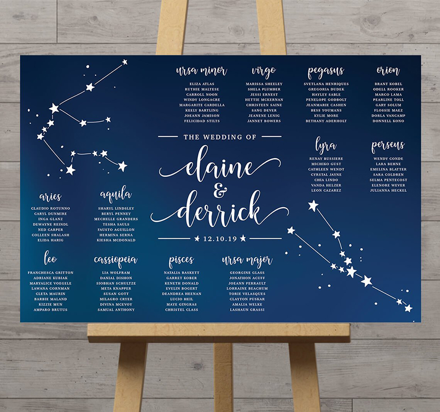 12 Unmissable Table Name Ideas - Stars | CHWV