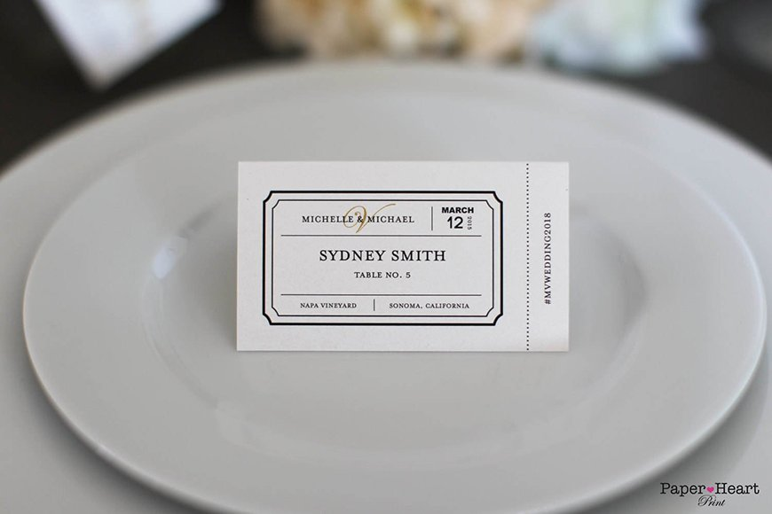 12 Unmissable Table Name Ideas - Film tickets | CHWV