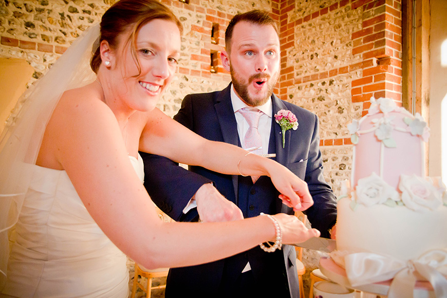 Real Wedding - A Fun and Light-Hearted Wedding at Upwaltham Barns - The cake | CHWV