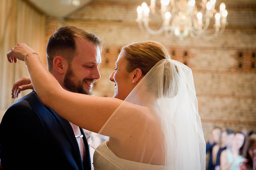 Real Wedding - A Fun and Light-Hearted Wedding at Upwaltham Barns - The ceremony | CHWV