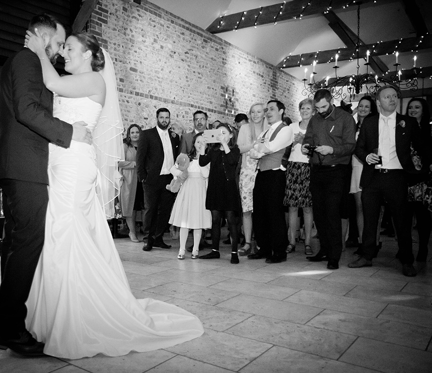Real Wedding - A Fun and Light-Hearted Wedding at Upwaltham Barns - First dance | CHWV