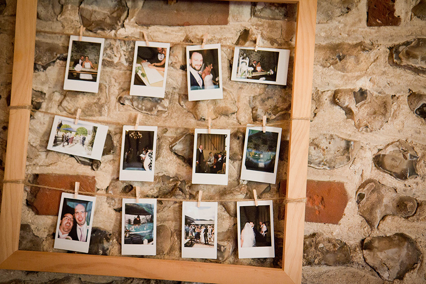 Real Wedding - A Fun and Light-Hearted Wedding at Upwaltham Barns - Polaroid photos | CHWV