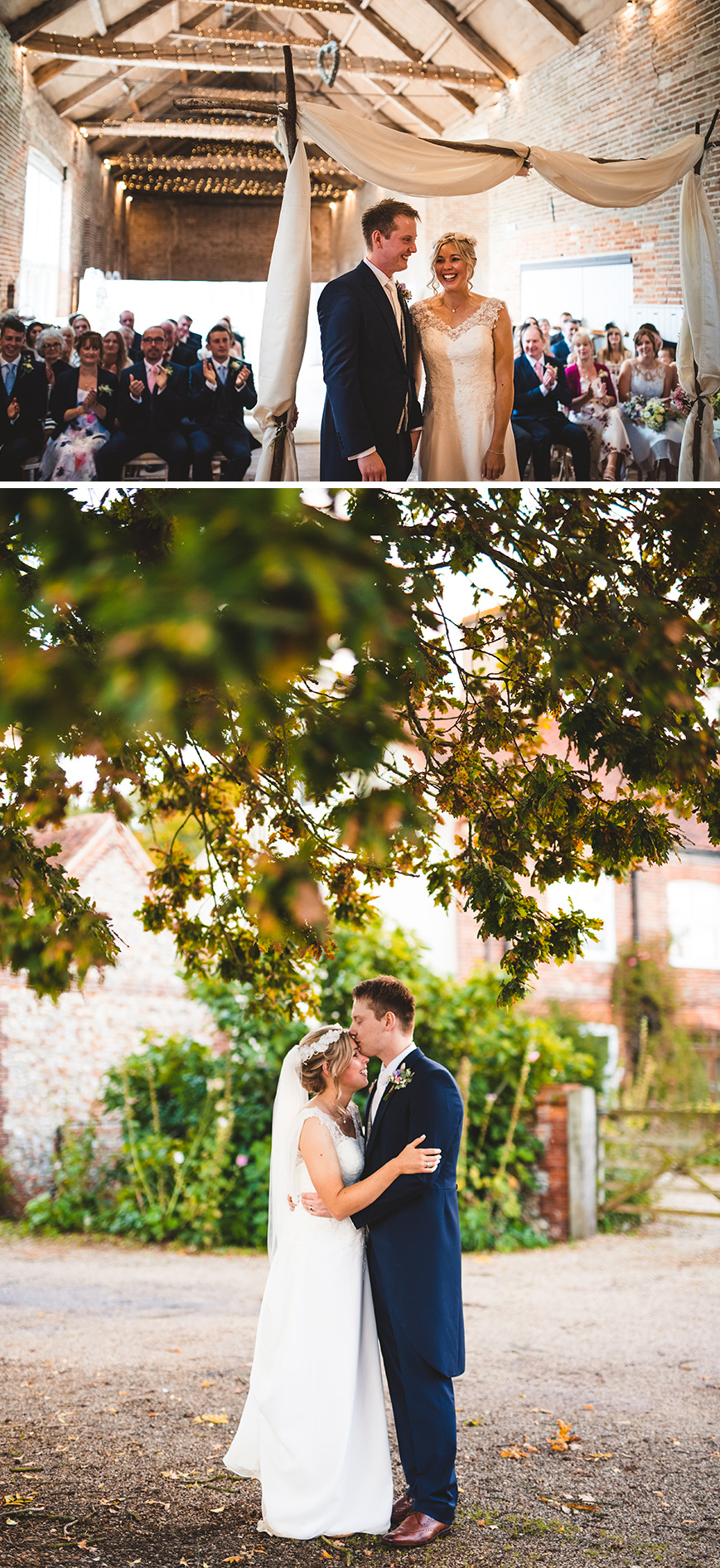 Real Wedding - Victoria and Sam's Late Summer Wedding at Manor Mews | CHWV
