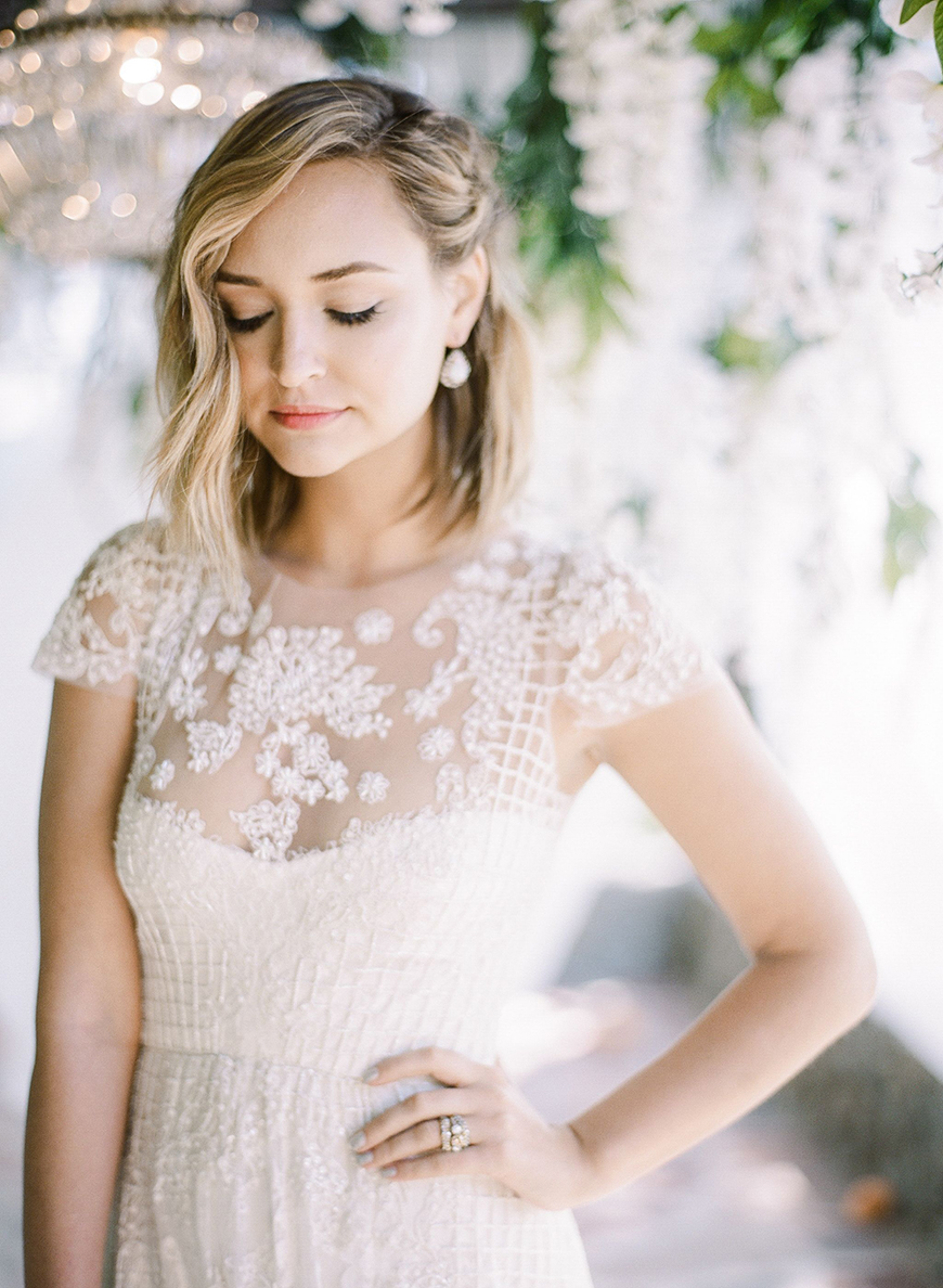 The Best Wedding Hairstyles For Short Hair - Laid-back bob | CHWV