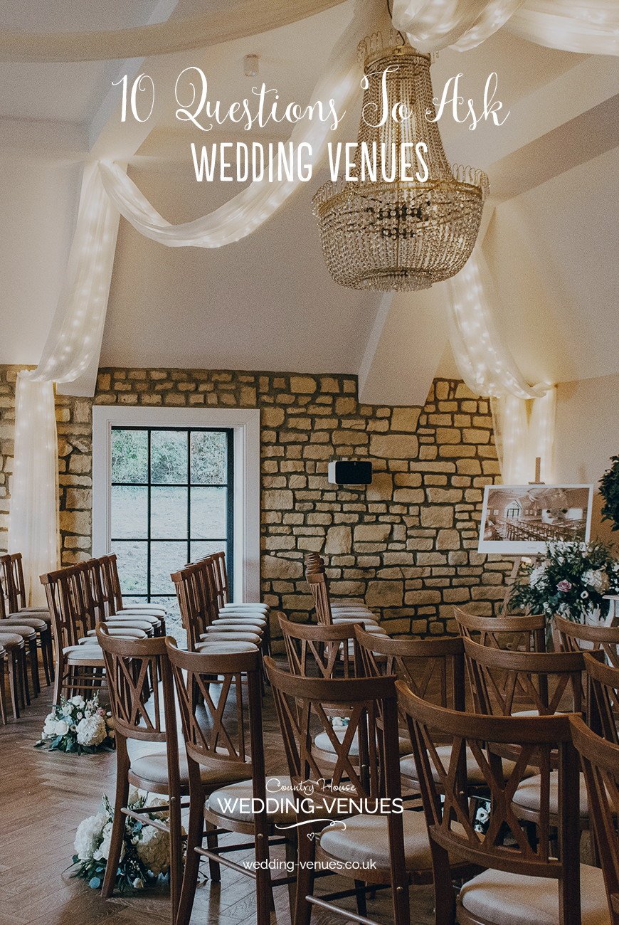 10 Wedding Venue Questions You Need to Ask | CHWV