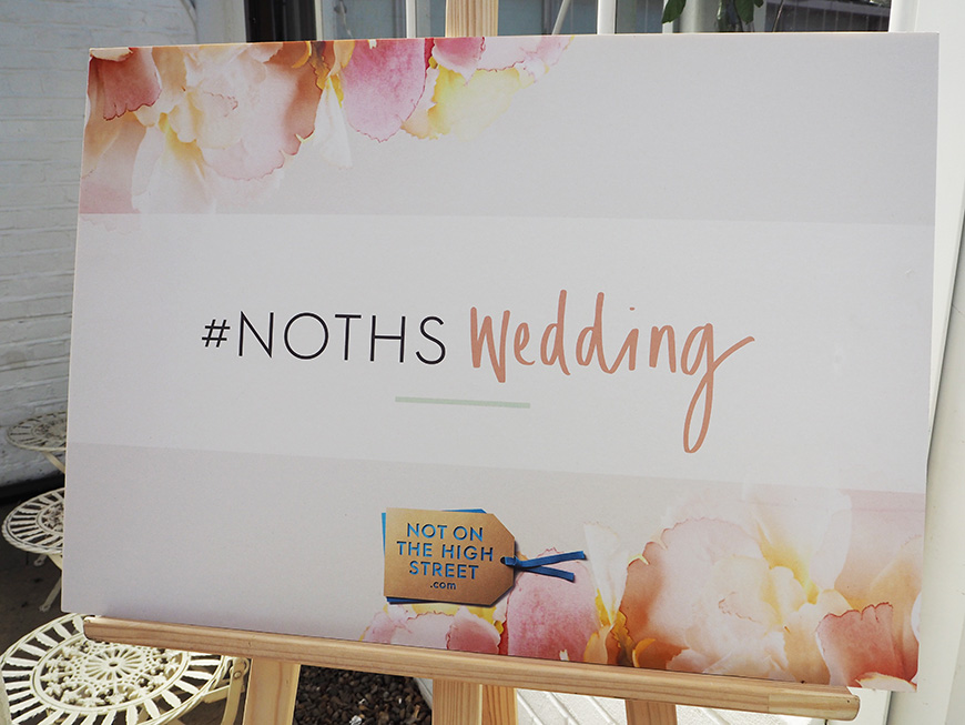 In Wedding Wonderland with not on the High Street - NOTHS Sign | CHWV