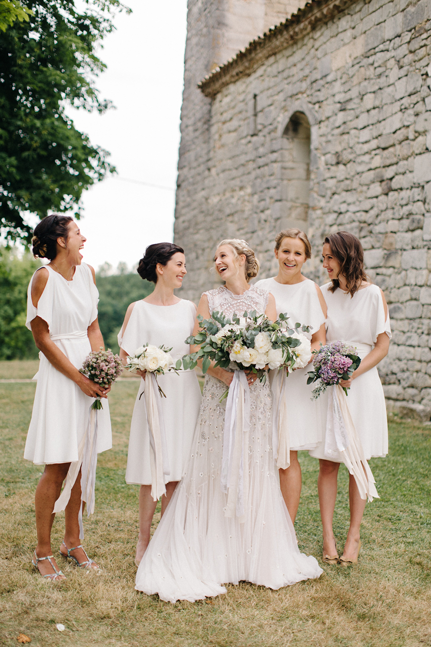 Wedding Ideas By Colour: White Bridesmaid Dresses | CHWV