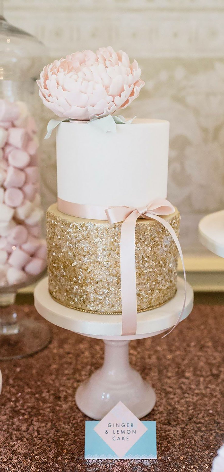 Wedding Ideas By Colour: White Wedding Cakes - Time to sparkle | CHWV